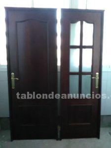 Puertas nuevas de interior de madera maciza