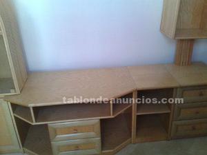 Se vende conjunto de salón de mimbre, mueble,mesa y sillas