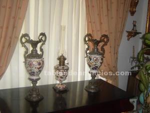 Tres jarrones porcelana antigüa
