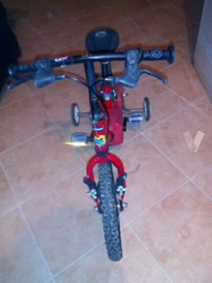 """bicicleta 14"""" con ruedines"""