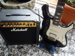 guitarra electrica yamaha y amplificador
