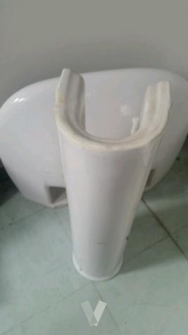 lavabo roca con el pie