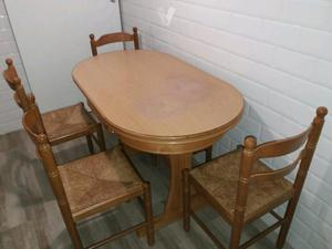 mesa cocina + sillas