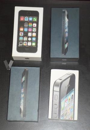 4 CAJAS VACIAS. IPHONE 4S, 5 Y 5S