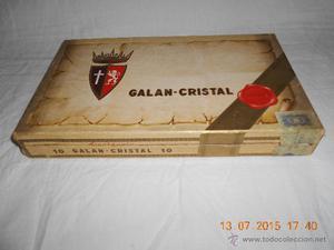 ANTIGUA CAJA DE PUROS GALAN CRISTAL DE CARTON MARCA