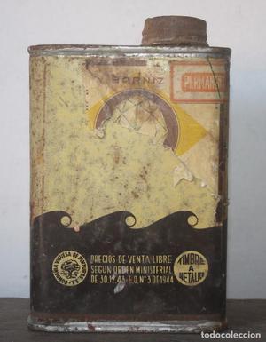 Antigua lata de barniz - Compañia Viguesa de Pinturas S.A.
