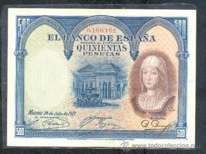 BILLETE 500 PTAS  Nº BAJISIMO