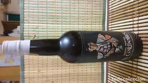 Botella de Montilla con la imagen de el Cordobés