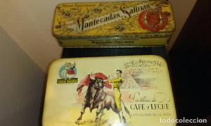Caja antiguas de hojalata 'Pastillas de Cafe con Leche' y
