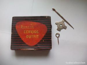 Caja lata para encendedor o mechero Ronson Service Outfit.