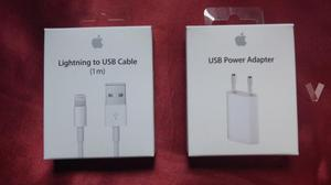 Cargador y cable lightning apple original con caja