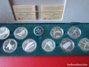 Coleccion de las 10 monedas de la olimpiada de invierno.