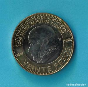 - ESTADOS UNIDOS MEXICANOS: Moneda de 20 pesos del  -