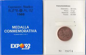 España Spain  Medalla conmemorativa Expo 92 Sevilla