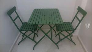 Mesa y 2 sillas tarno ikea para terraza o balcon posot class for Conjunto terraza ikea