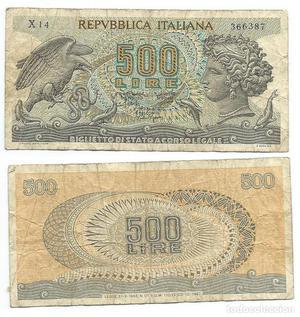 Italia Billete de 500 liras de .