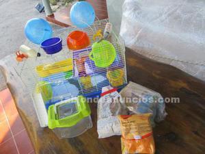 Jaula hamster con muchos extras de regalo