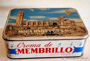 LATA DE DULCE DE MEMBRILLO. LA LIRA HERMANOS MORA. AÑOS 60