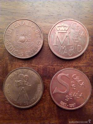 Lote 4 Medallas FNMT.