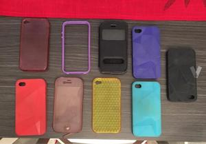 Lote fundas iphone 4/4s