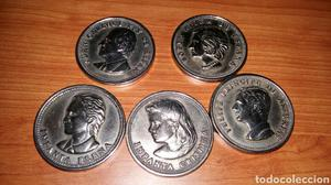 Medallas de colección de los miembros de la casa real plata