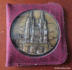 Moneda en bronce de la catedral de Burgos, colección de