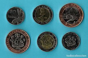 - NIGERIA: Serie de 3 monedas de 50 kobo, 1 y 2 naira del