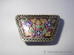 Pastillero, cajita de plata 925 con esmaltes