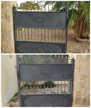 Puerta met lica madrid posot class for Vendo caseta metalica