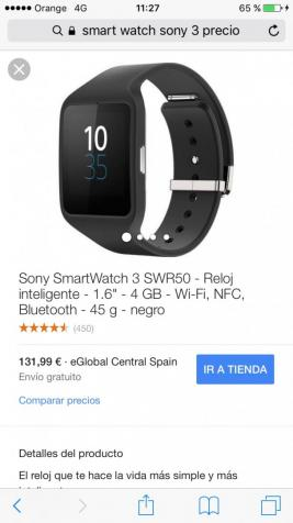 Smart watch Sony 3