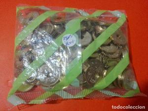bolsa 100 monedas 25 pesetas  Rey