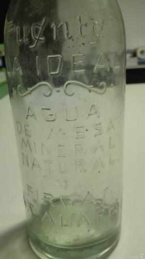botella fuente la ideal agua de firgas-la 1ª botella-