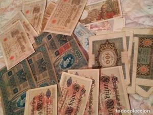 lote de 29 billetes antiguos muy buen estado de  -