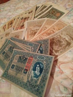 lote de 34 billetes antiguos muy buen estado de  -