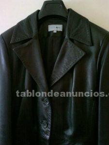Abrigo de piel de alta calidad negro