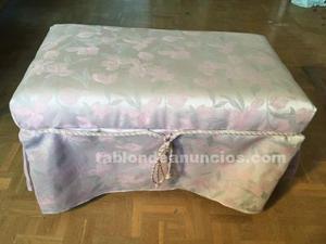 Banqueta descalzadora tapizada vintage
