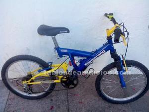 Bicicleta mtb niños doble suspensión