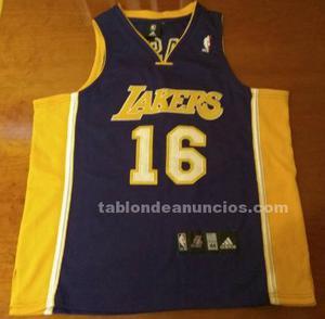Camiseta oficial de baloncesto de los lakers