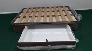 Canape para cama de 1.35 x 1.90 con cajon