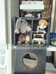 Casa de muñecas modelo boston, con invernadero