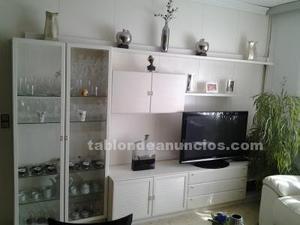 Cjto mueble de comedor lacado en blanco