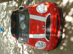 Coche mini rojo de bateria dos plazas
