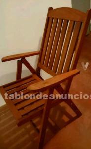 Conjunto mesa, silla y sillones