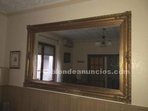 Espejo de 180x115 cm. Artesanía valenciana en oro