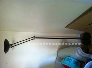 Lámpara de pie negra 180 cm alto