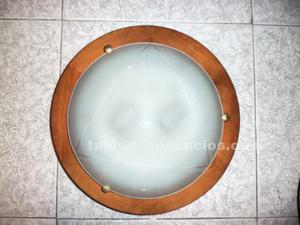 Lámpara de techo (plafón + base) de 2 luces