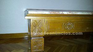 Mesa de centro de madera/marmol