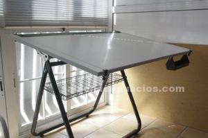 Mesa de dibujo en perfecto estado con paralex y pinzas - Mesas dibujo tecnico ...