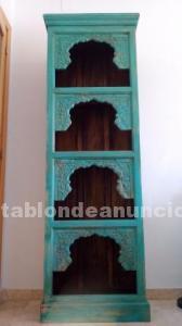 Mueble librería madera de la india