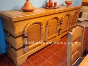 Muebles comedor de roble